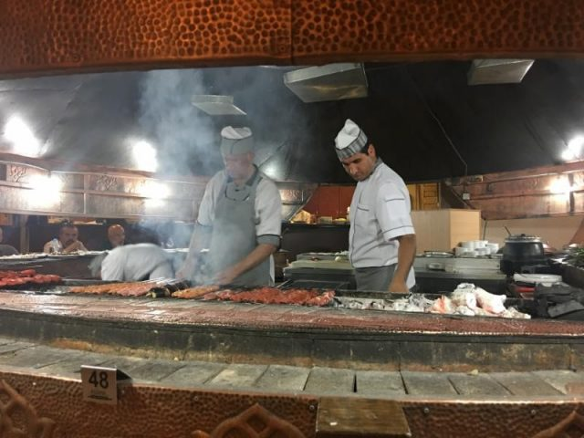 Kebab grill in Turkey