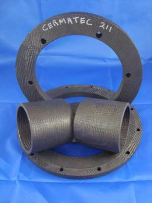 Canned motor pump bearings